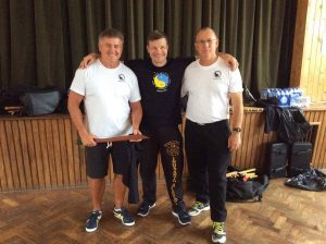 Mark Lane with Steve Cowley and Paul McCarthy